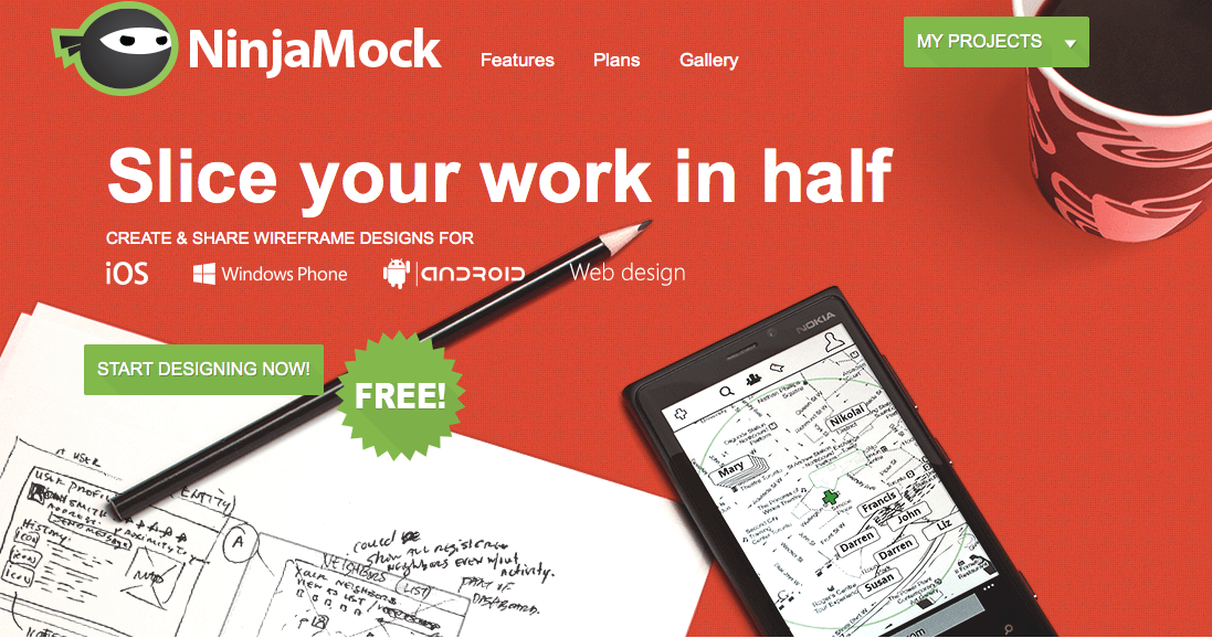 NinjaMock homepage