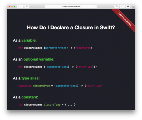 Fucking Closure Syntax